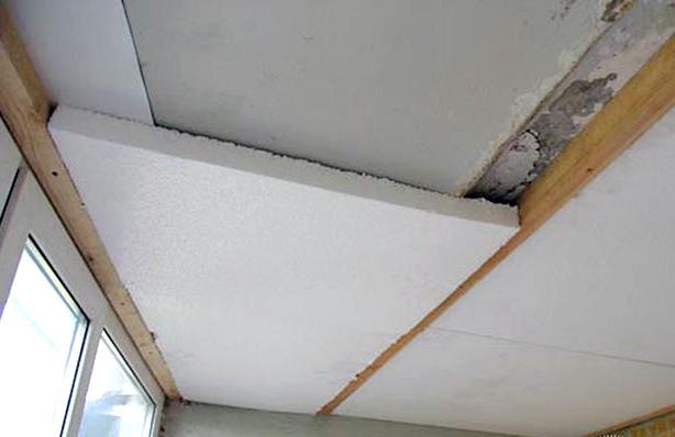 утеление потолка пенопластом