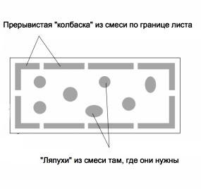 Приклейка пенопласта