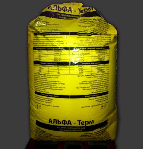 АЛЬФА-Терм,  заполнитель для полистиролбетона